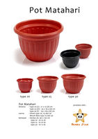 Cheap plastic garden flower plant pot