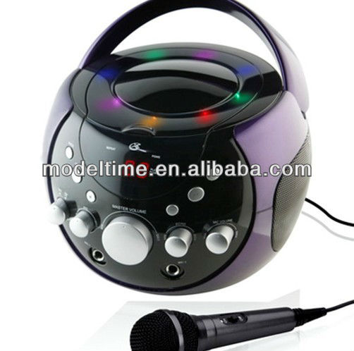 portable cd radio boombox avec karaok 1 microphone et. Black Bedroom Furniture Sets. Home Design Ideas