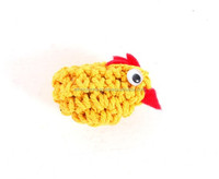 Small Yellow Crochet Chicken Fridge Magnet Home Decoration