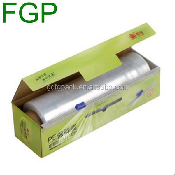 High quality color printing corrugated packaging box for aluminum foil/preservative film roll in China