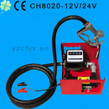 CH8020 DC 12V 24V 0.25HP 175W fuel dispenser 12v fuel dispenser diesel transfer pump with deliver hose and oil gun