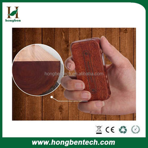 Best vapor mod High power 80watt TC box mod cigarette kamry 80w UTC Wood e cig mod with RBA atomzier