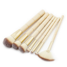 COSMIDO 7 pcs Go pro new fashion makeup brush bamboo handle makeup brush set
