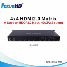 6G HDMI 4X4 Matrix Support HDMI 2.0/HDCP 2.2 4K2K 60Hz with IR and RS232
