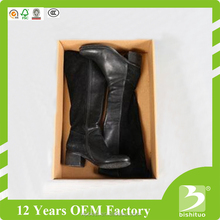 Hot Sale Hard E-flute Corrugated Paper Lid and Bottom Women boots Shoe Box
