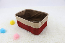 China supplier custom collapsible laundry storage basket linen storage basket
