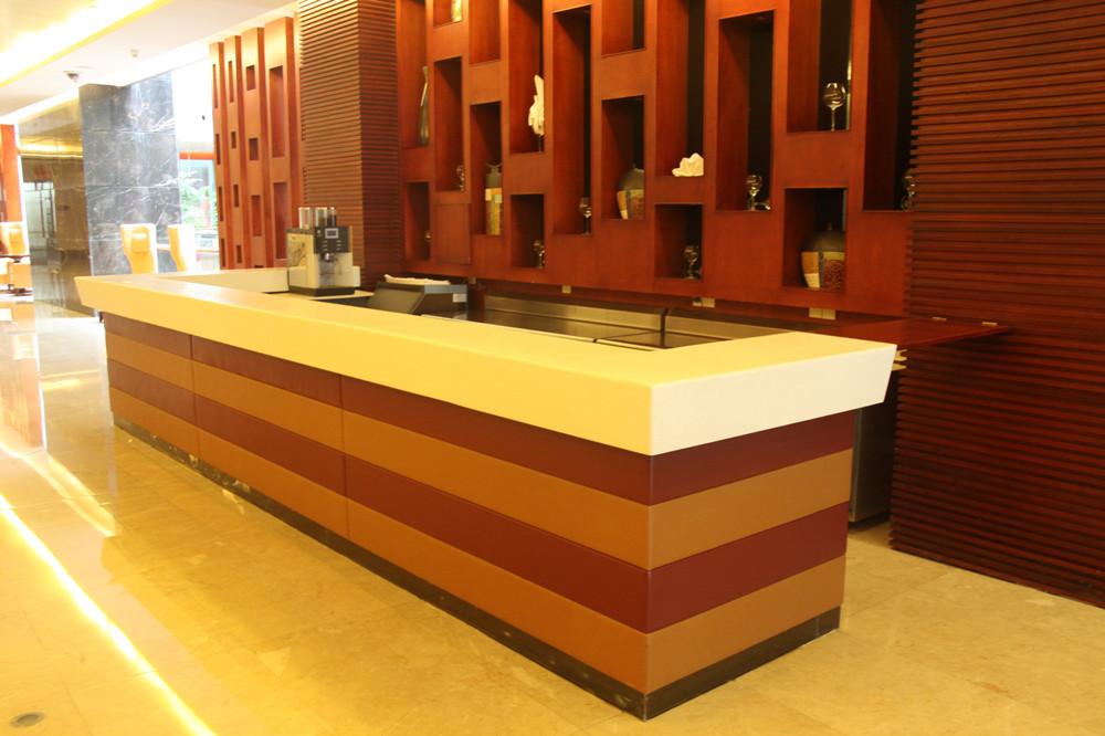 Quartz Stone Reception Desk : Commercial furniture salon use and artificial stone style