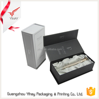 2016 hottest customized offset printing luxury black rectangle paper perfume packaging box cosmetic box