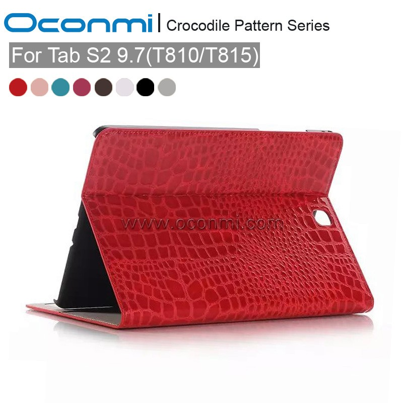 Crocodile Pattern Case For Samsung Galaxy Tab S2 9.7 T810 T815 Business Stand Tablet Leather Case Cover For Samsung Tab S2 9.7
