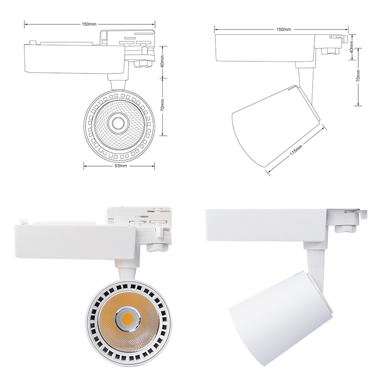 white led track light