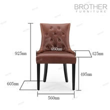 Luxury fabric restaurant button tufted chair restaurant dining chairs