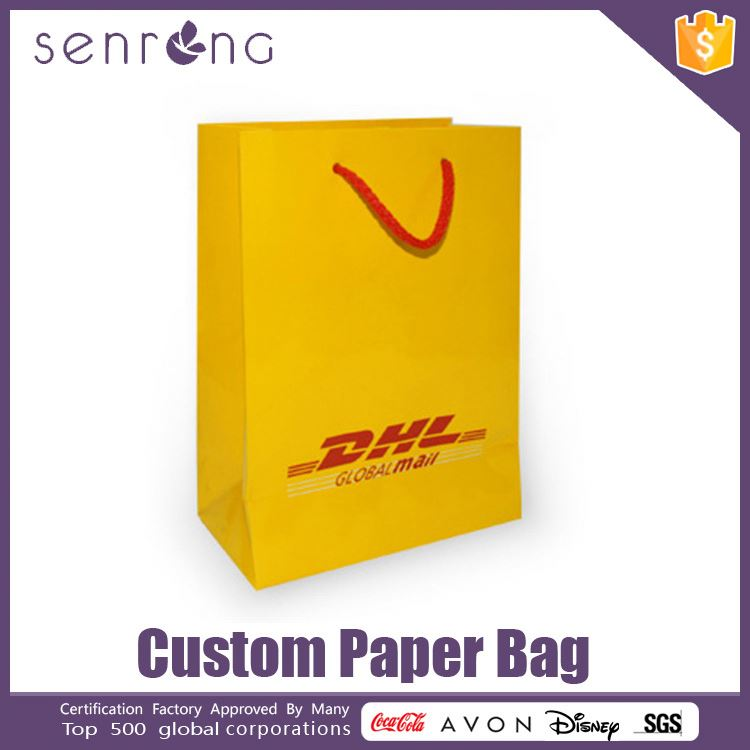 cosmetic paper bag design printing commercial paper bag design