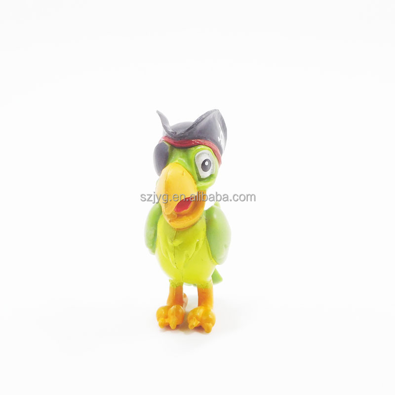 Soft Parrot Vinyl Toys Birds Small Animals Plastic Toys Plastic Pirate Parrots Toys