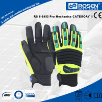RS SAFETY Mechanic SBR reinforced and sewn TPR knuckles Protective gloves