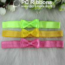 Fashion fold over elastic bow elastic custom headband