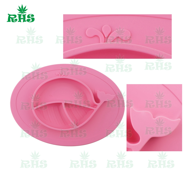 Food grade silicone baby plates and bowls 3 section Baby dinner Plate/Baby Bowl/Plate for Kids