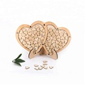 custom drop hearts box  wood  wedding  guest book wood wedding decoration