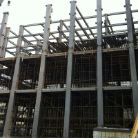 Steel structure for two story building
