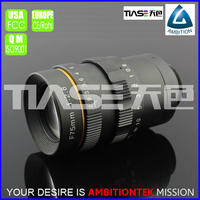 "4/3"" large format 75mm F2.8 telephoto zoom C mount telecentric excellent imaging manual focus industrial visionLens"