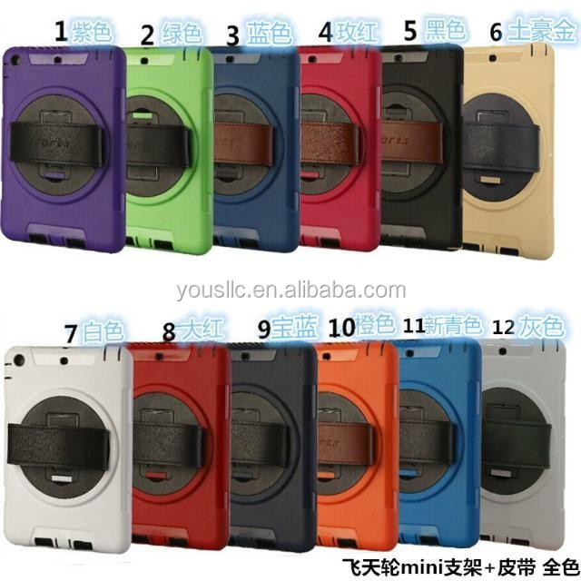 360 rotation ShockProof Heavy Duty Case With Touch Screen Stand for iPad 2 3 4
