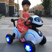 New Toy Rechargeable Kids Motorbike Ride on Electric Children Motorcycle with Four Wheels