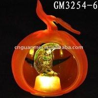 halloween decoration glass pumpkin with LED light