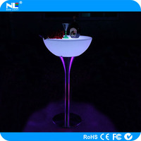 china supplier LED lights table furniture LED glow bar table furniture lighting rechargeable LED bar table
