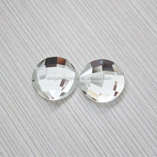 delicate facet cut flat back glass stone for jewelry making