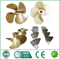 copper material fixed pitch marine 4 bladed propeller