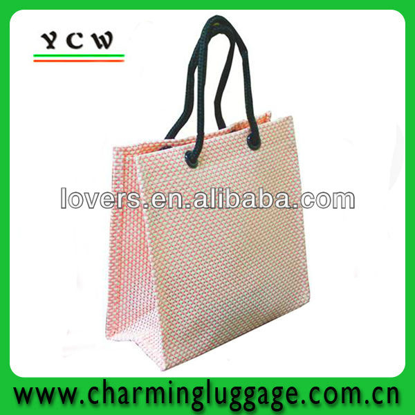 pink tote bag promotion custom tote bag