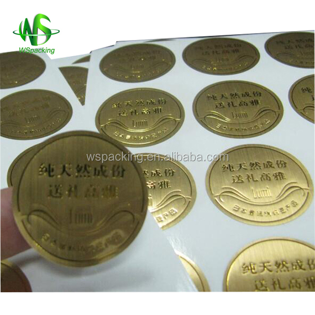 Paper adhesive sticker Fragile care label packaging label
