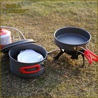 New Design camping enamel cookware with carry bag
