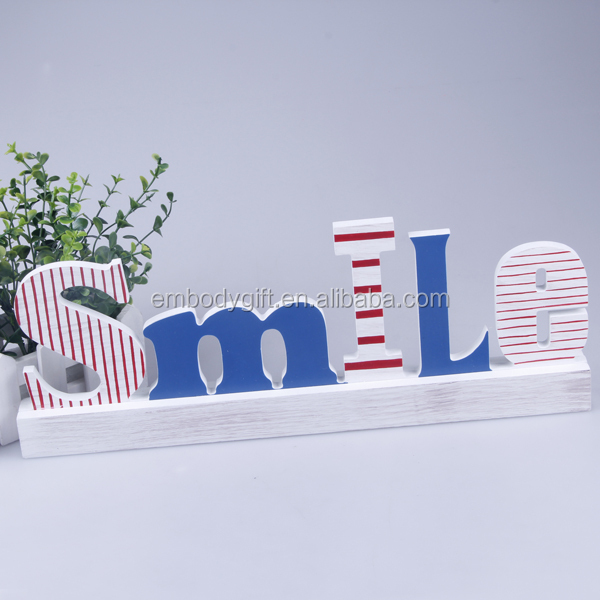 Wholesale New Model MDF Home Decoration Different Styles Wooden Alphabet Letters