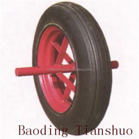 Tianshuo Wholesale high quality300 hand trolley pneumatic solid rubber wheel