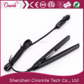 New Fashion Hair Straightening Hair Care titanium Flat Iron with Car Charger
