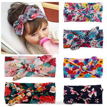 The new Europe and the United States children knot printing rabbit ears Simple Bohemian fashion headband hair accessories