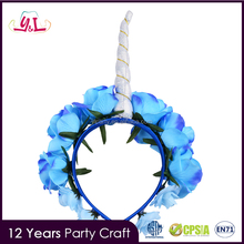 Trending Flower Rose Decoration Unicorn Flower Headband For Boy