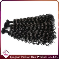 Cheap deep curly wet and wavy real tangle free brazilian virgin human hair weave 8-30inch 100 human hair extension wholesale