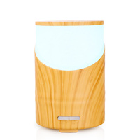 Private label small real bamboo essential oil diffuser led with essential oils 160ml