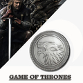 Game of Thrones Tce Wolf House Stark of Winterfell Biker Badges
