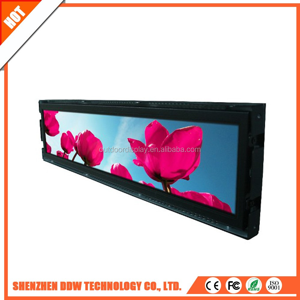 2017 hot new ultra Wide stretched Bar LCD advertising display/ads player LCD commercial Ultra Stretch Screen