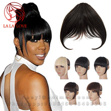 Brazilian Human hair bangs clip in extensions fringe neat bangs top hairpieces front of blond bangs Natural hair clips bangs