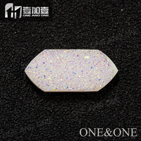 In Stock!Natural Druzy Agate Gemstone Opal White Drusy Bead For Jewelry