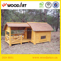 House type Large wooden dog house with terrace