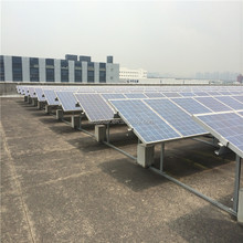 Flat roof solar panel mounting brackets system