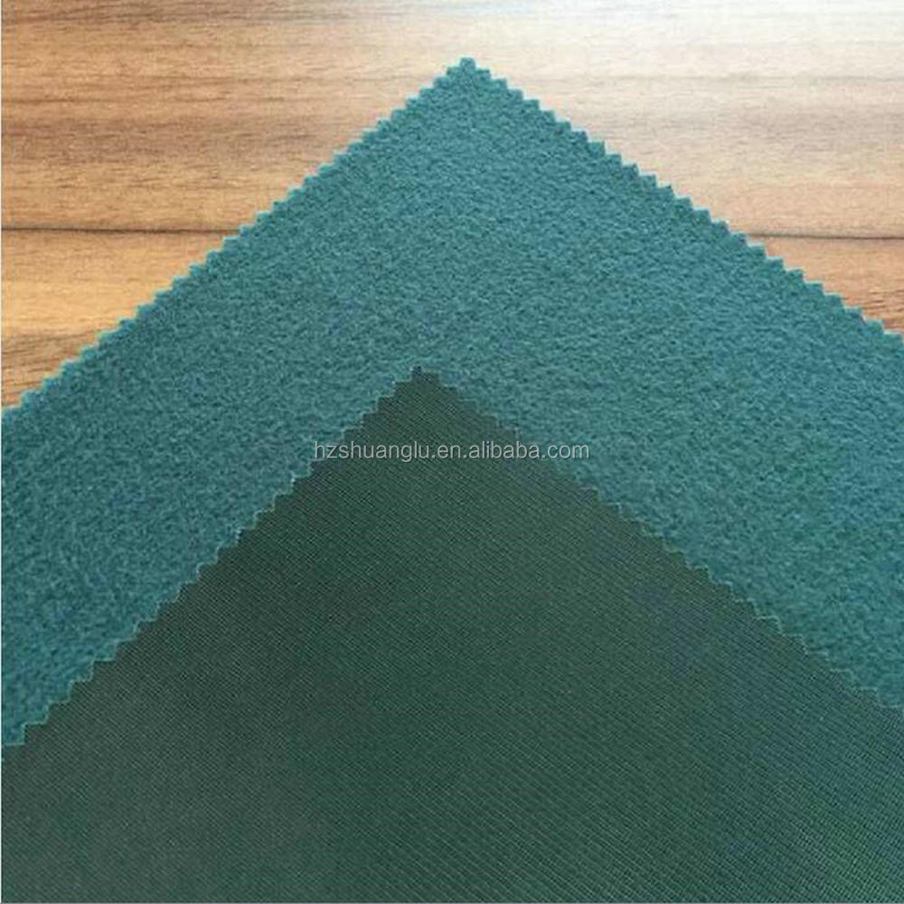 100% Polyester knit running garment brushed fabric china textile factory