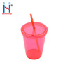 Customized Reusable Cheap Plastic Tumbler Cup With Lid And Straw