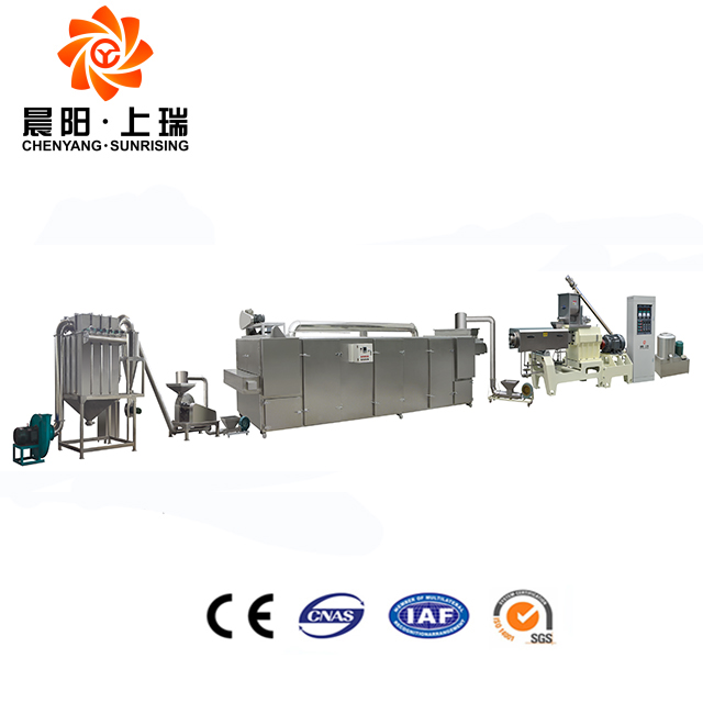 High quality nutritional cereals puffing corn flakes machine