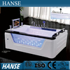 HS-B229 couple white acrylic sexy massage compact square bathtub with tv