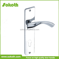 chrome plated handle,spring door lever latch
